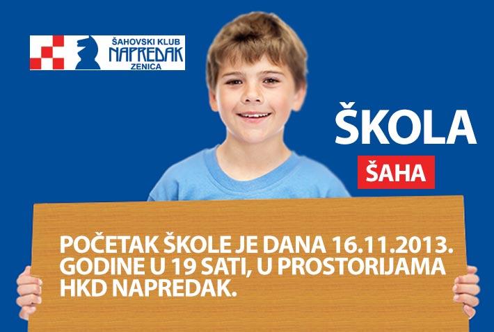 Počinje škola šaha ŠK Napredak